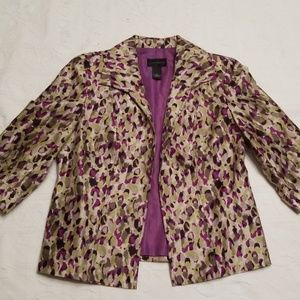 Investments sz 8 3/4 sleeve green, purple blazer